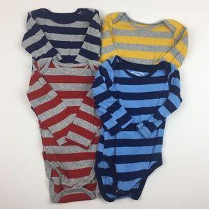 Striped Long Sleeve Onsie Bundle